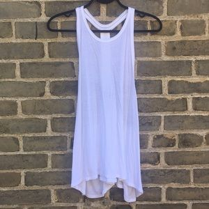 American Eagle, Relaxed T-Back Tank, With Beading